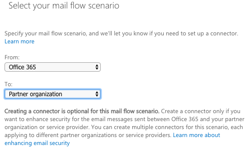 Select your mail flow scenario