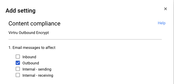 content compliance settings