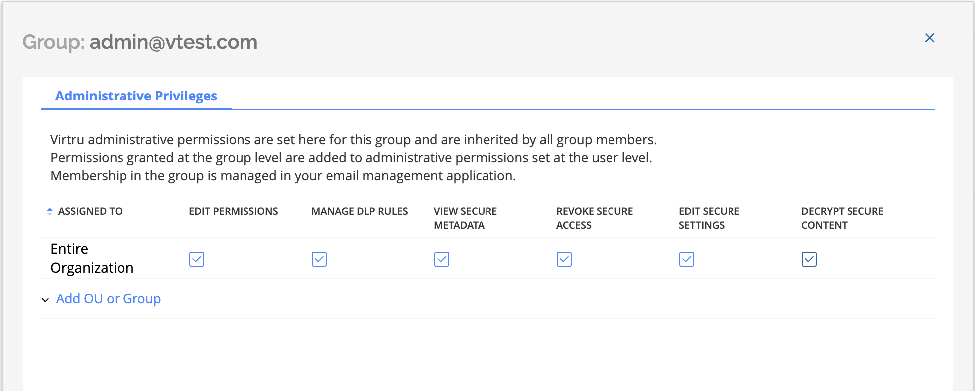 Granting group permissions