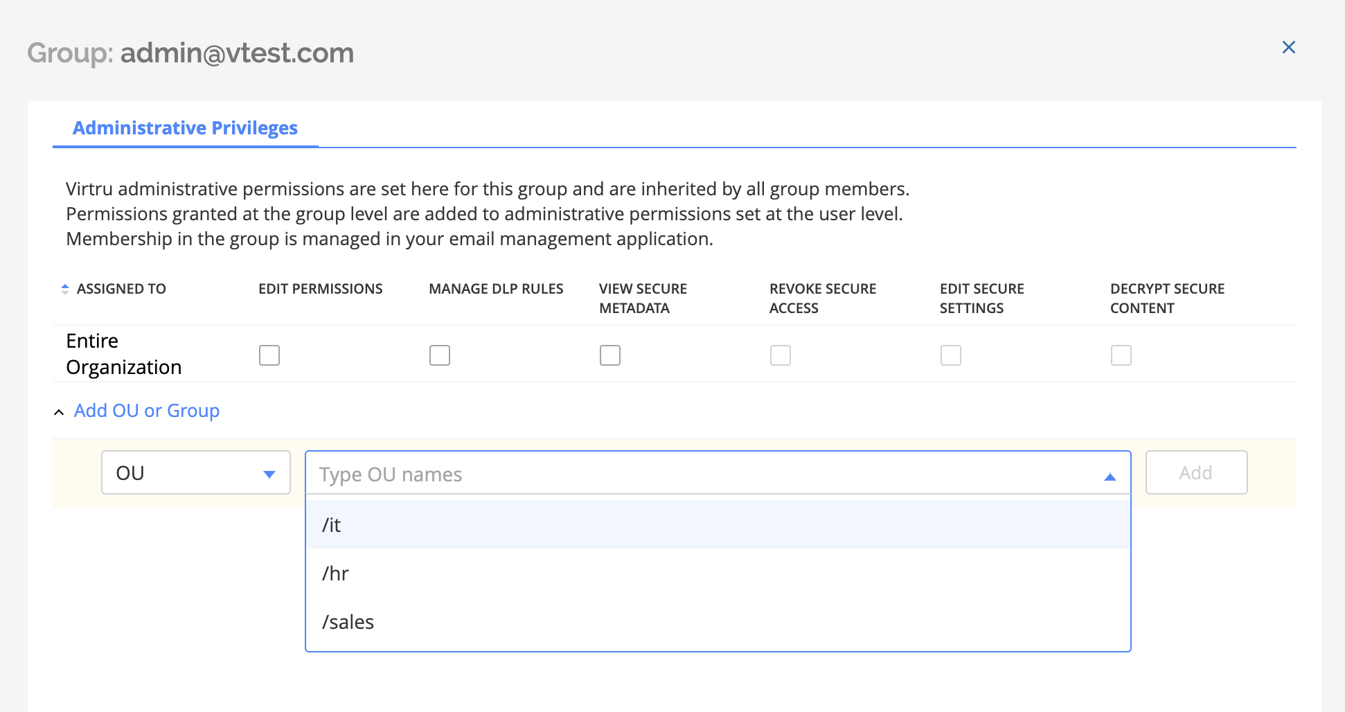 Granting users administrative priviledges for specific groups and OUs