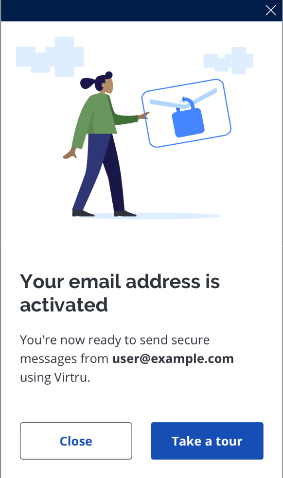 email address is activated outlook tile
