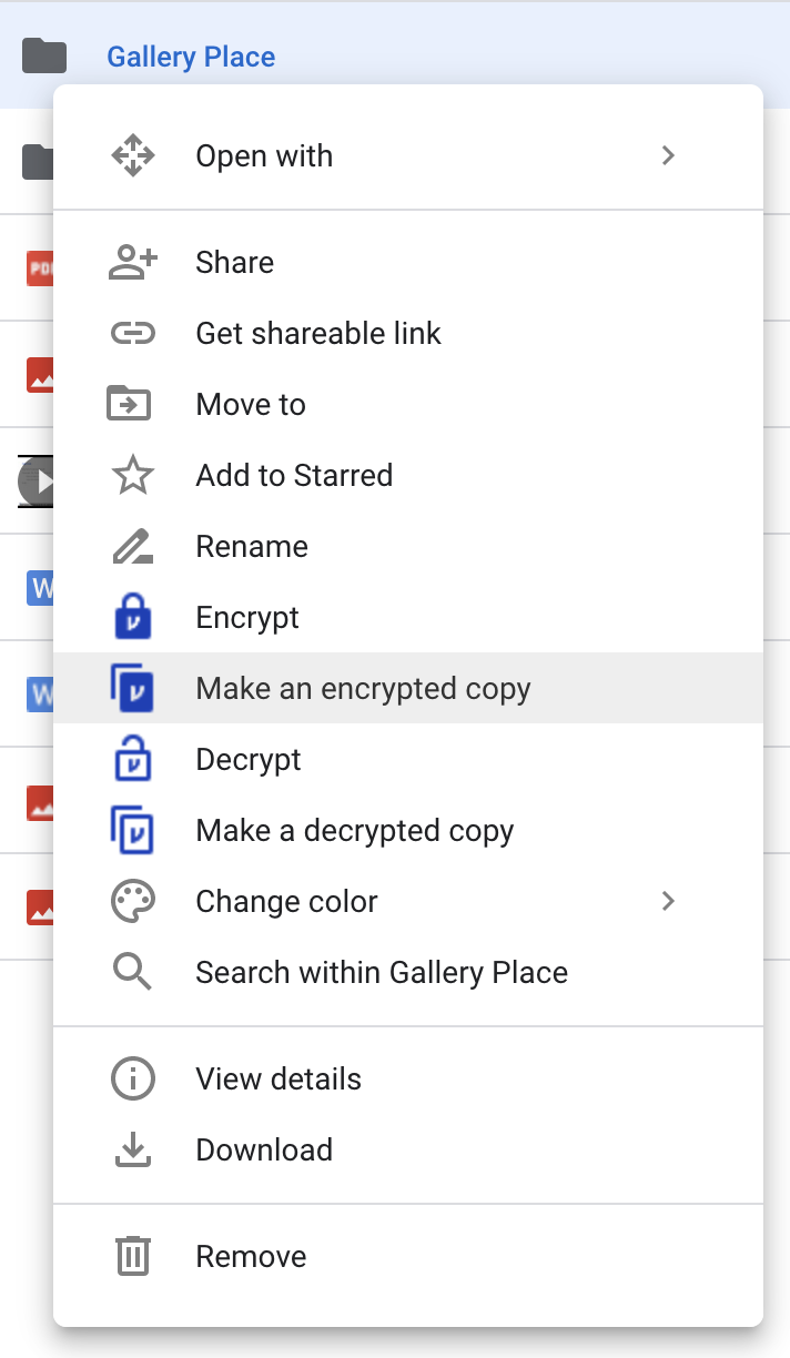 Make an encrypted copy of a folder