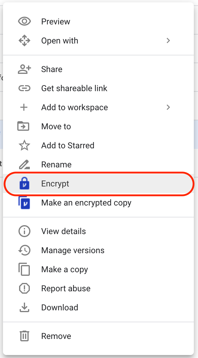 Encrypt in place