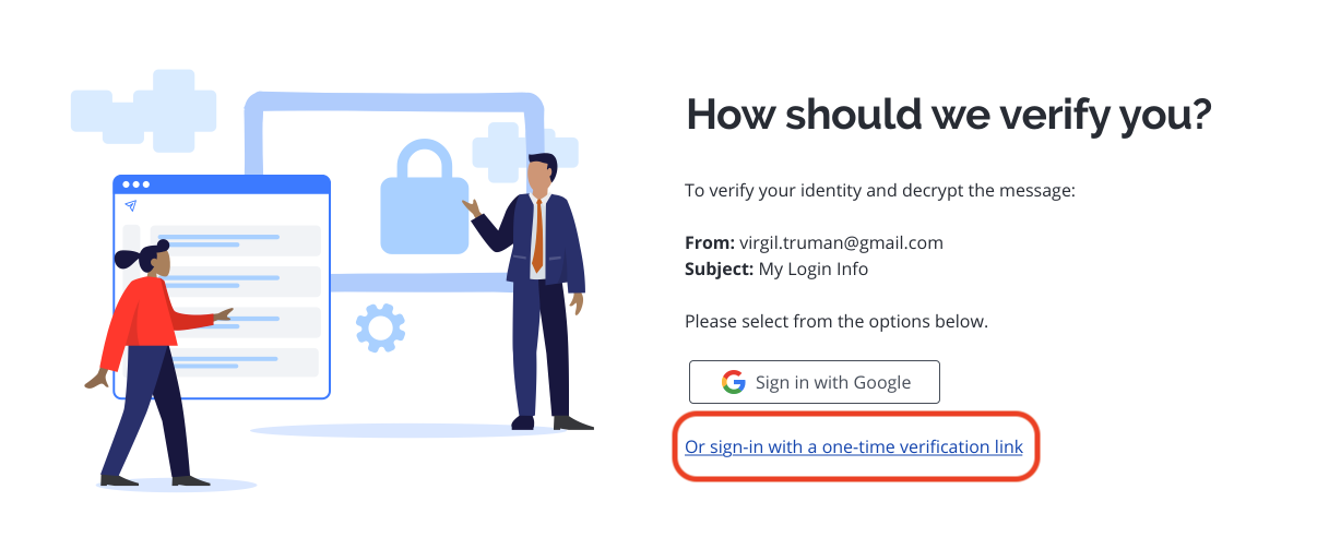 Secure Reader verification options