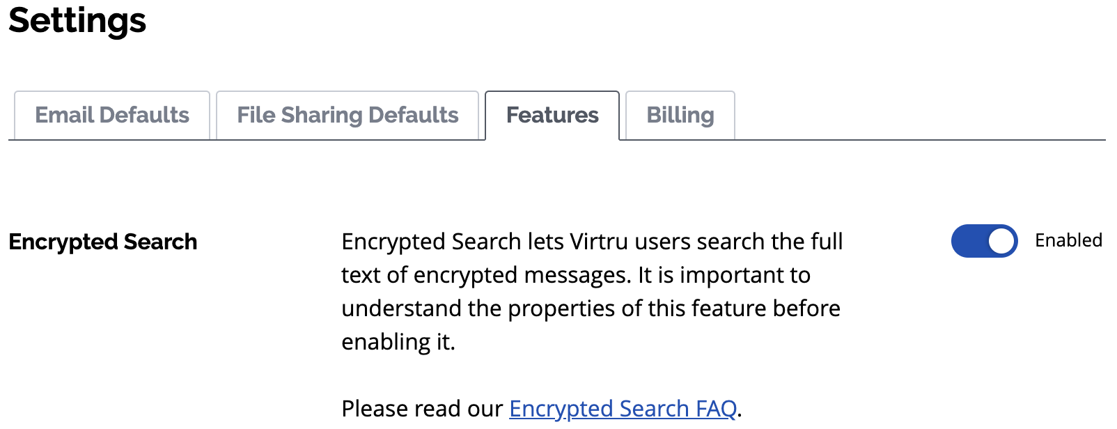 Enabled Encrypted Search